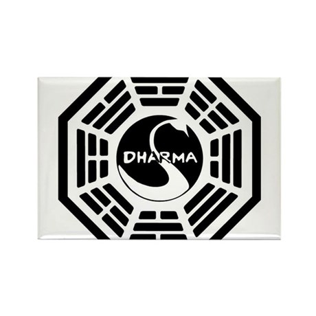 LOST DHARMA MUG Rectangle Magnet