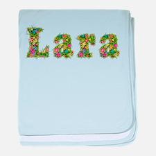 Lara Floral baby blanket