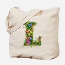 L Floral Tote Bag
