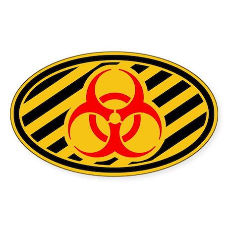 Biohazard Symbol Sticker (Oval)