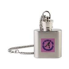 Field Hockey Girl Flask Necklace