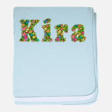 Kira Floral baby blanket
