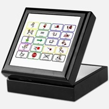 20 Core Words Communication Board Keepsake Box