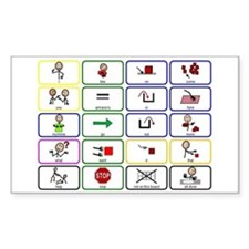 20 Core Words Communication Board Decal