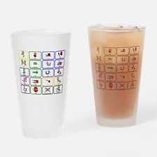 20 Core Words Communication Board Drinking Glass