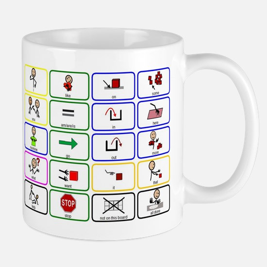 20 Core Words Communication Board Mug
