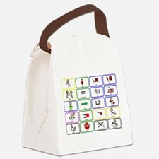 20 Core Words Communication Board Canvas Lunch Bag