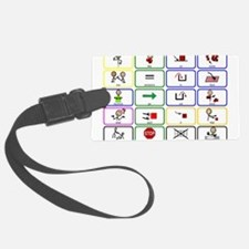 20 Core Words Communication Board Luggage Tag