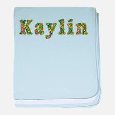 Kaylin Floral baby blanket