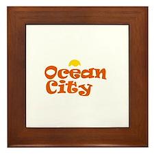 Ocean City NJ. Framed Tile