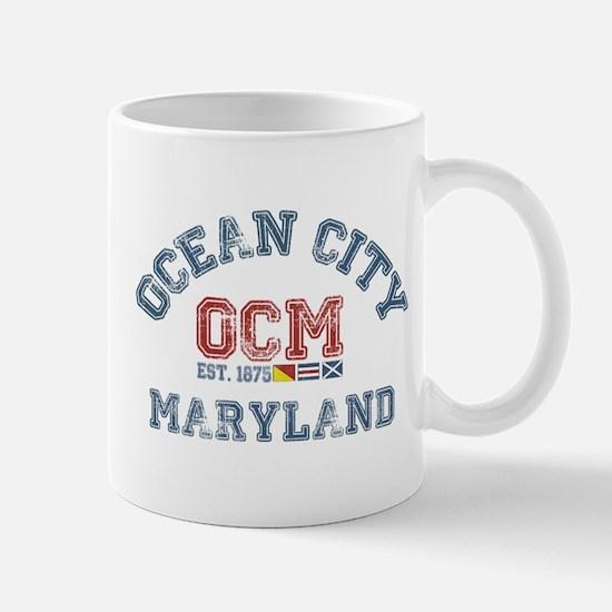 Ocean City MD - Nautical Design. Mug