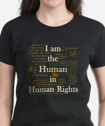 I am Human Rights Women's Dark T-Shirt