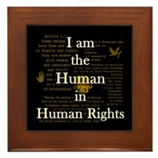 I am Human Rights Framed Tile