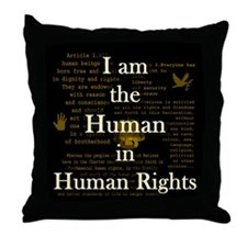 I am Human Rights Throw Pillow