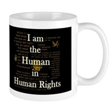 I am Human Rights Dark Mug