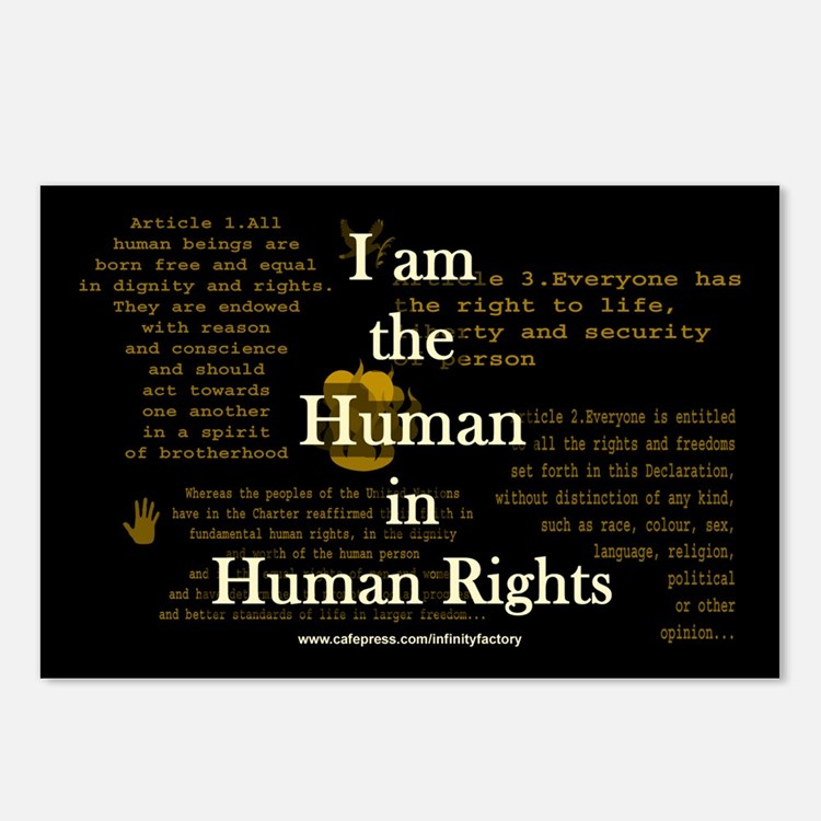 I am Human Rights Postcards (Package of 8)