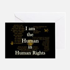 I am Human Rights Greeting Card