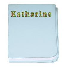 Katharine Floral baby blanket