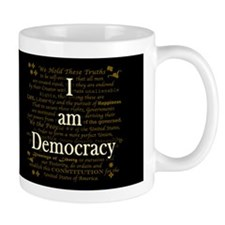 I am Democracy Dark Small Mug