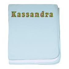 Kassandra Floral baby blanket