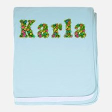 Karla Floral baby blanket