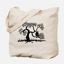 Spooky Owl In Tree Tote Bag