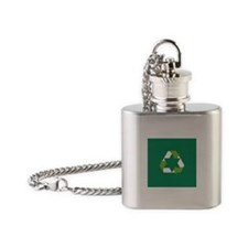 Green Jew Flask Necklace