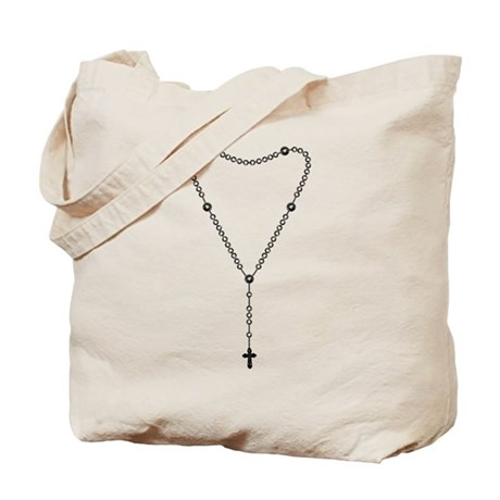 Rosary Graphic Tote Bag