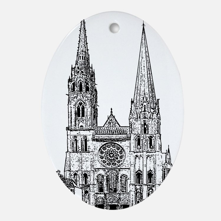 Chartres Cathedral Ornament (Oval)