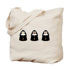 Cute Nuns Tote Bag