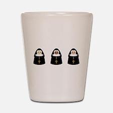 Cute Nuns Shot Glass