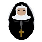 Nun Oval Ornaments