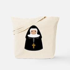 Cute Nun Tote Bag