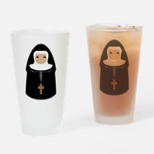 Cute Nun Drinking Glass