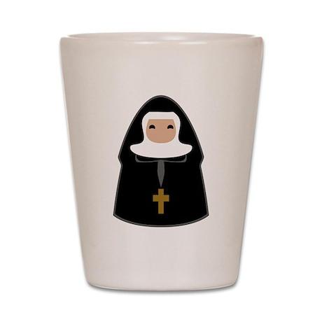 Cute Nun Shot Glass