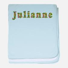 Julianne Floral baby blanket