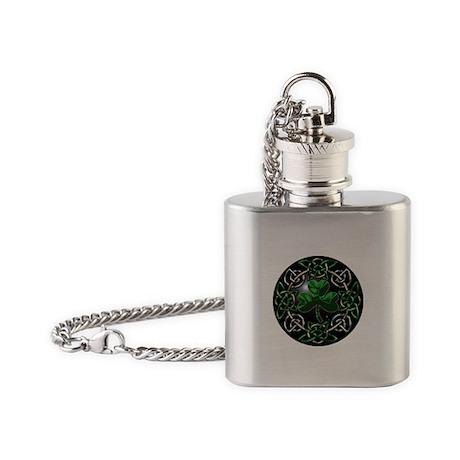 St. Patrick's Day Celtic Knot Flask Necklace