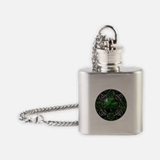 St. Patrick's Day Celtic Knot Flask Necklace