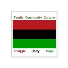 "Bendera Kwanzaa Square Sticker 3"" x 3"""