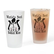 Cute Boston terrier Drinking Glass