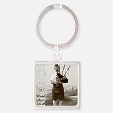 Rock On Square Keychain