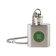 Irish Pride Drink Up Bitches Flask Necklace