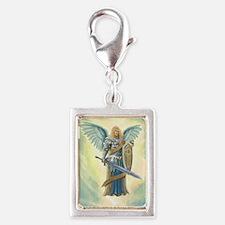St. Angel Michael Silver Portrait Charm