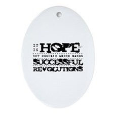 Hope Not Despair V2 Ornament (Oval)