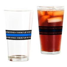 Cute Sheriff thin blue line Drinking Glass