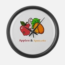 Apples Apricots Month Large Wall Clock