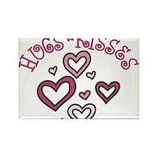 Hugs Kisses Rectangle Magnet