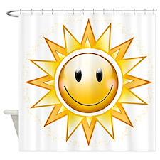 Happy Sun Shower Curtain
