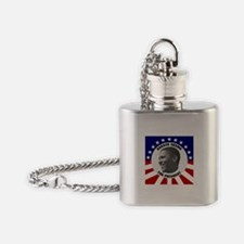 Classic Black & White Obama Flask Necklace