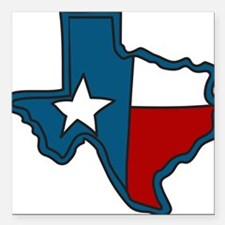 "Texas Square Car Magnet 3"" x 3"""